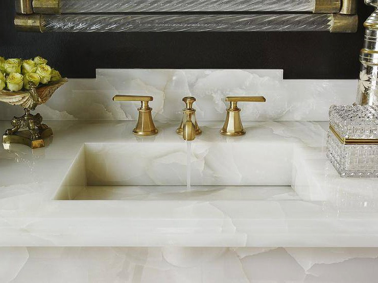White Onyx Bathroom Sink Image Of